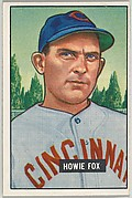 Howie Fox, Pitcher, Cincinnati Reds, from Picture Cards, series 5 (R406-5) issued by Bowman Gum