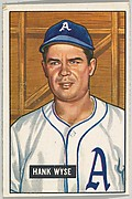 Hank Wyse, Pitcher, Washington Senators, from Picture Cards, series 5 (R406-5) issued by Bowman Gum