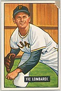 Vic Lombardi, Pitcher, Pittsburgh Pirates, from Picture Cards, series 5 (R406-5) issued by Bowman Gum