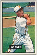 Ken Wood, Outfield, St. Louis Browns, from Picture Cards, series 5 (R406-5) issued by Bowman Gum