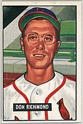 Don Richmond, Infield, St. Louis Cardinals, from Picture Cards, series 5 (R406-5) issued by Bowman Gum
