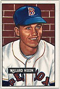 Willard Nixon, Pitcher, Boston Red Sox, from Picture Cards, series 5 (R406-5) issued by Bowman Gum
