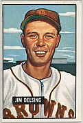 Jim Delsing, Outfield, St. Louis Browns, from Picture Cards, series 5 (R406-5) issued by Bowman Gum