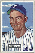 Cliff Mapes, Outfield, New York Yankees, from Picture Cards, series 5 (R406-5) issued by Bowman Gum