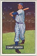 Tommy Henrich, Coach, New York Yankees, from Picture Cards, series 5 (R406-5) issued by Bowman Gum