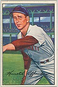 Ken Raffensberger, Pitcher, Cincinnati Reds, from Picture Cards, series 6 (R406-6) issued by Bowman Gum