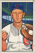 Bruce Edwards, Catcher, Chicago Cubs, from Picture Cards, series 6 (R406-6) issued by Bowman Gum