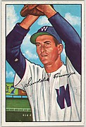 Sandalio Consuergra, Pitcher, Washington Senators, from Picture Cards, series 6 (R406-6) issued by Bowman Gum