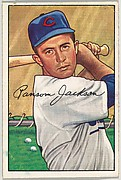 Ransom Jackson, 3rd Base, Chicago Cubs, from Picture Cards, series 6 (R406-6) issued by Bowman Gum