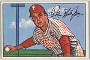 Willie Jones, 3rd Base, Philadelphia Phillies, from Picture Cards, series 6 (R406-6) issued by Bowman Gum