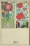 Decorative Design with Flowers (Schmuckkarte mit Blumen)