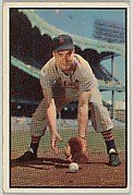 Fred Hatfield, 3rd Base, Detroit Tigers, from Collector Series, Colors set, series 7 (R406-7) issued by Bowman Gum
