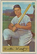 Vic Wertz, Outfield, Baltimore Orioles, from Name on Bat series, series 9 (R406-9) issued by Bowman Gum