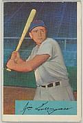 Jim Greengrass, Outfield, Cincinnati Redlegs, from Name on Bat series, series 9 (R406-9) issued by Bowman Gum