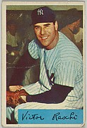 Vic Raschi, Pitcher, New York Yankees, from Name on Bat series, series 9 (R406-9) issued by Bowman Gum
