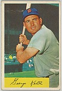 George Kell, 3rd Base, Boston Red Sox, from Name on Bat series, series 9 (R406-9) issued by Bowman Gum