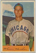 Warren Hacker, Pitcher, Chicago Cubs, from Name on Bat series, series 9 (R406-9) issued by Bowman Gum