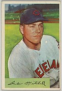 Dale Mitchell, Outfield, Cleveland Indians, from Name on Bat series, series 9 (R406-9) issued by Bowman Gum