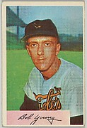 Bob Young, 2nd Base, Baltimore Orioles, from Name on Bat series, series 9 (R406-9) issued by Bowman Gum