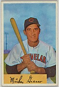 Mickey Grasso, Catcher, Cleveland Indians, from Name on Bat series, series 9 (R406-9) issued by Bowman Gum