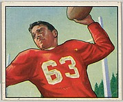 Card Number 36, Frank Albert, Quaterback, San Francisco 49ers, from the Bowman Football series (R407-2) issued by Bowman Gum