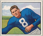 Card Number 49, Sam Tamburo, Ends, New York Yanks, from the Bowman Football series (R407-2) issued by Bowman Gum