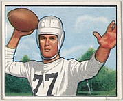 Card Number 54, Bob Gage, Left Halfback, Pittsburg Steelers, from the Bowman Football series (R407-2) issued by Bowman Gum