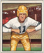 Card Number 88, Howard Hartley, Left Halfback, Pittsburg Steelers, from the Bowman Football series (R407-2) issued by Bowman Gum