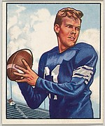 Card Number 121, George Ratterman, Quarterback, New York Yanks, from the Bowman Football series (R407-2) issued by Bowman Gum