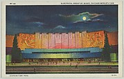 Electrical Group by Night, from the Chicago World's Fair series (PC225-1)