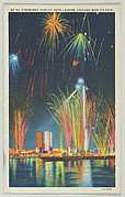 Fireworks Display over Lagoon, from the Chicago World's Fair series (PC225-1)