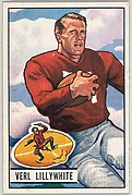 Card Number 33, Verl Lillywhite, Fullback, San Francisco 49ers, from the Bowman Football series (R407-3) issued by Bowman Gum
