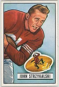 Card Number 69, John Strzykalski, Right Halfback, San Francisco 49ers, from the Bowman Football series (R407-3) issued by Bowman Gum