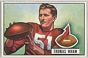 Card Number 64, Thomas Wham, End, Chicago Cardinals, from the Bowman Football series (R407-3) issued by Bowman Gum