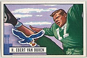 Card Number 84, H. Ebert Van Buren, Fullback and Halfback, Philadelphia Eagles, from the Bowman Football series (R407-3) issued by Bowman Gum