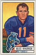 Card Number 85, Jules Rykovich, Right Halfback, Chicago Bears, from the Bowman Football series (R407-3) issued by Bowman Gum