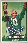 Card Number 118, Frank Reagan, Halfback, Philadelphia Eagles, from the Bowman Football series (R407-3) issued by Bowman Gum