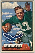 Card Number 120, Clyde Scott, Halfback, Philadelphia Eagles, from the Bowman Football series (R407-3) issued by Bowman Gum