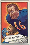 Chuck Hunsinger, from the Bowman Football series (R407-4) issued by Bowman Gum
