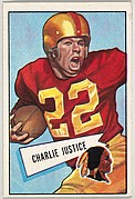 Charlie Justice, from the Bowman Football series (R407-4) issued by Bowman Gum