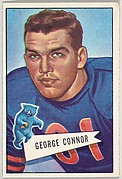George Connor, from the Bowman Football series (R407-4) issued by Bowman Gum