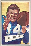 Bill Howton, Rice University, from the Bowman Football series (R407-4) issued by Bowman Gum