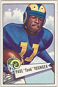 """Paul """"Tank"""" Younger, from the Bowman Football series (R407-4) issued by Bowman Gum"""