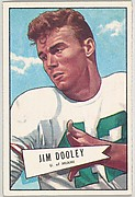 Jim Dooley, University of Miami, from the Bowman Football series (R407-4) issued by Bowman Gum