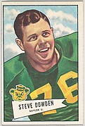 Steve Dowden, Baylor University, from the Bowman Football series (R407-4) issued by Bowman Gum