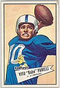 "Vito ""Babe"" Parilli, University of Kentucky, from the Bowman Football series (R407-4) issued by Bowman Gum"
