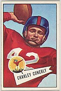 Charley Conerly, from the Bowman Football series (R407-4) issued by Bowman Gum
