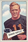 Howard Hartley, from the Bowman Football series (R407-4) issued by Bowman Gum