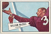 William McColl, from the Bowman Football series (R407-4) issued by Bowman Gum