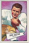 John Kastan, Boston University, from the Bowman Football series (R407-4) issued by Bowman Gum